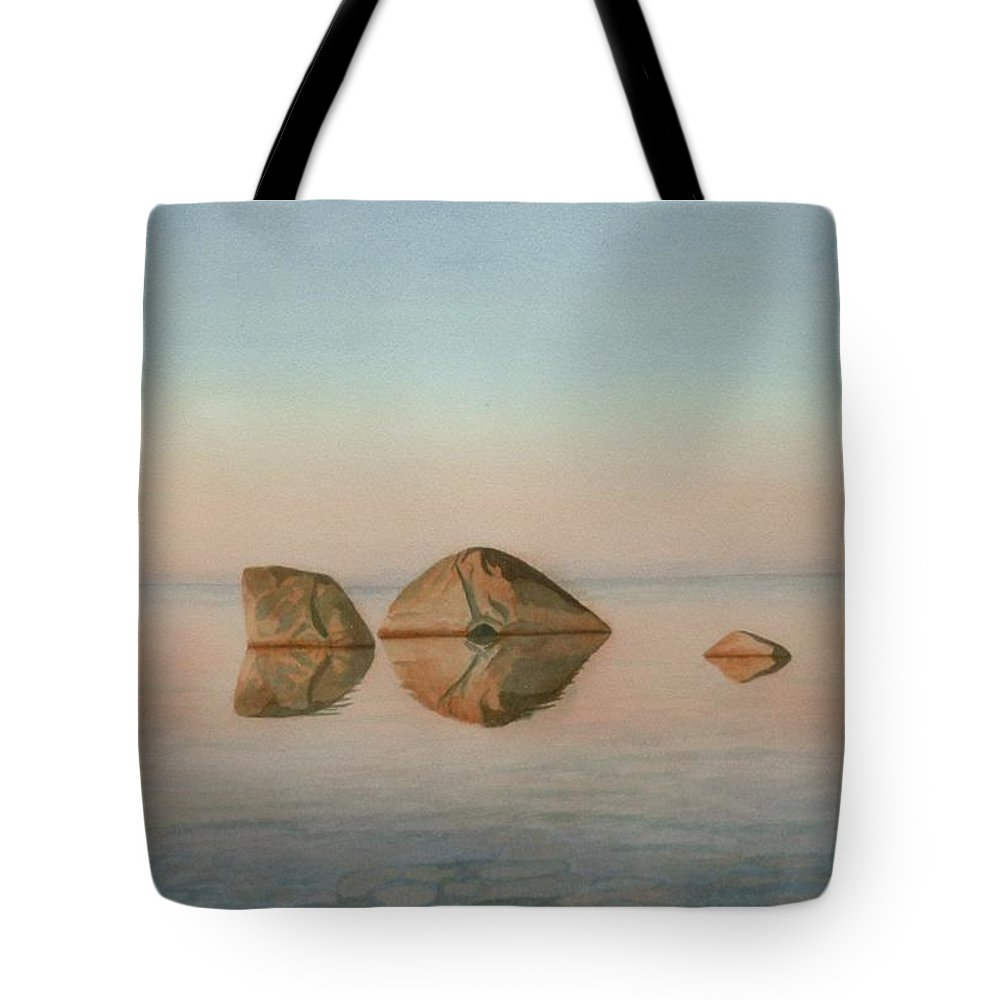Landscape Tote Bag featuring the painting The Immortal Sentinels by Lynn ACourt
