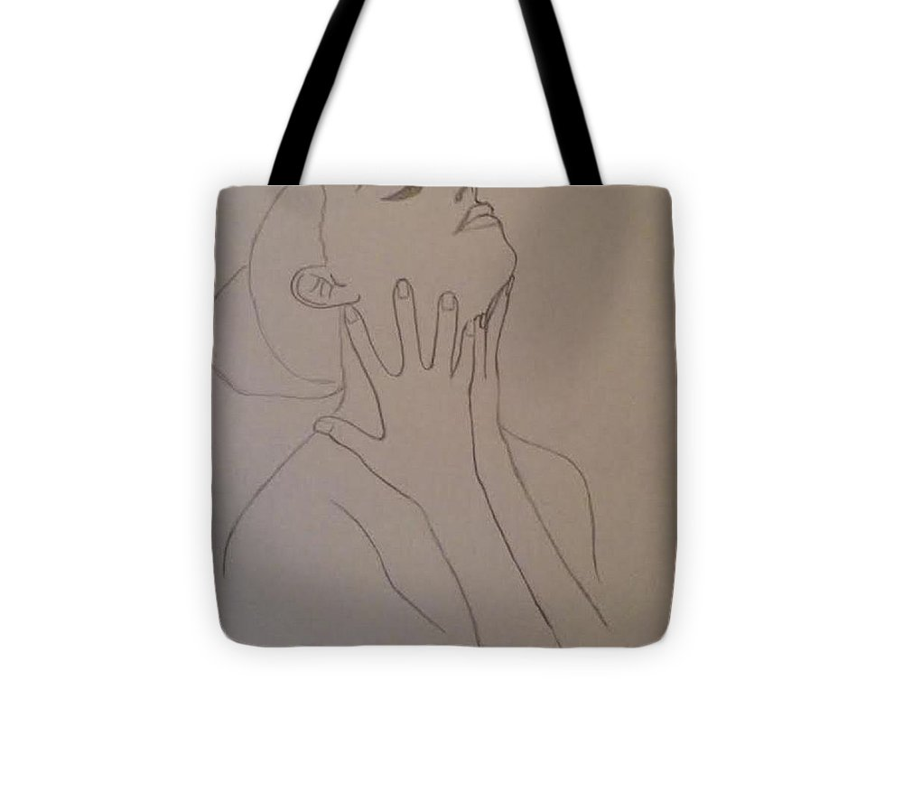Humans Tote Bag featuring the drawing The Incomplete Beauty by Sheila Renee Parker