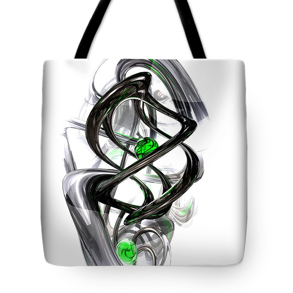 3d Tote Bag featuring the digital art The Inkwell Abstract by Alexander Butler