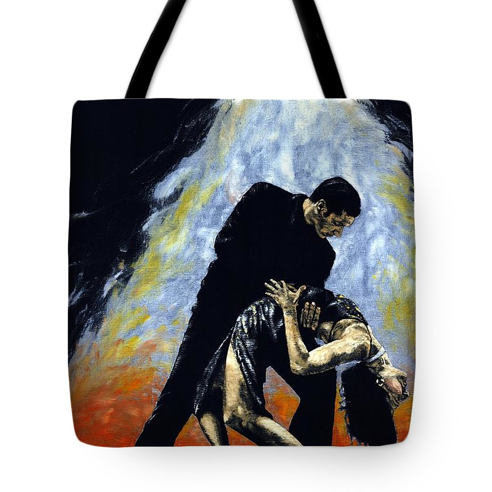 Tango Tote Bag featuring the painting The Intoxication Of Tango by Richard Young