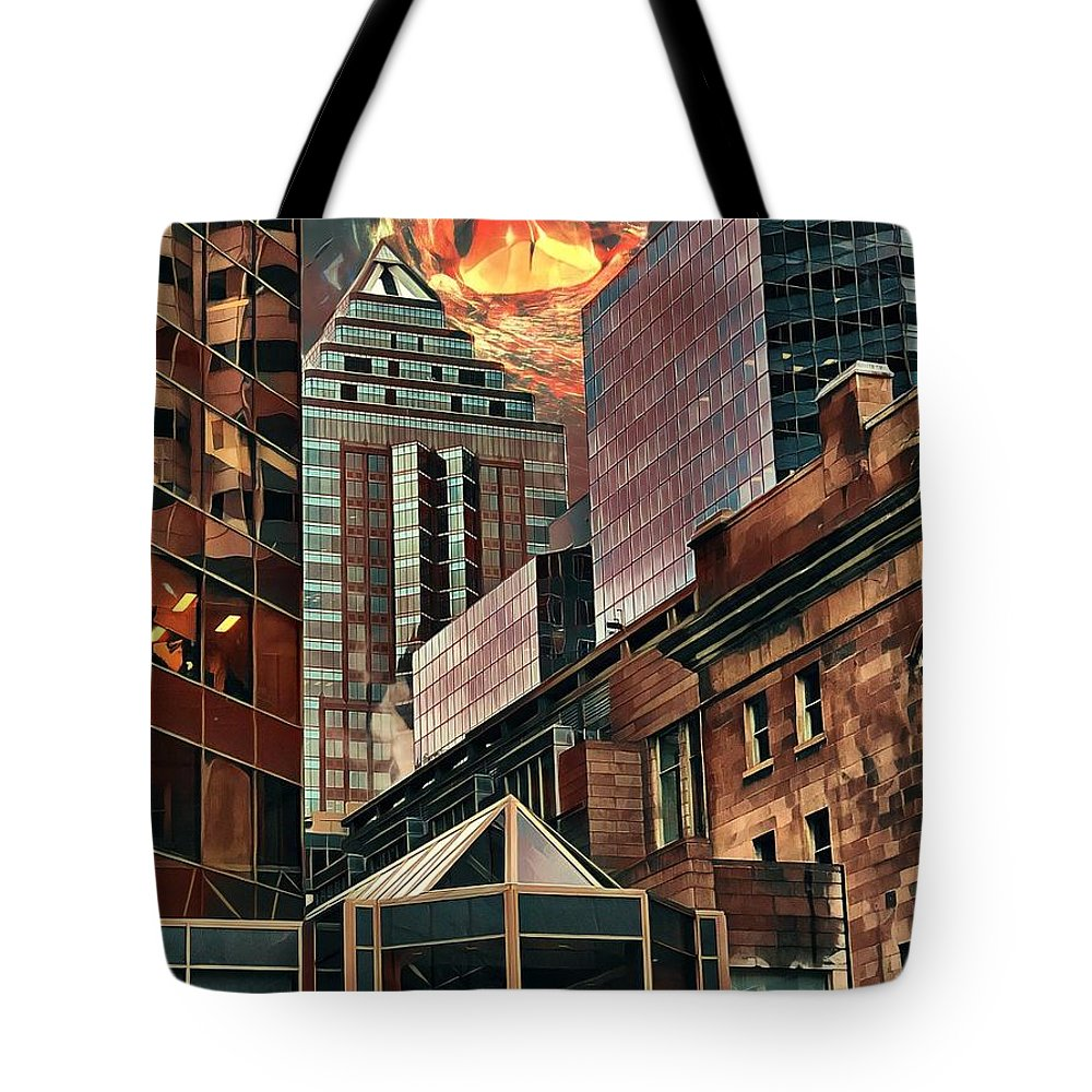 City Tote Bag featuring the digital art The Invisible Eye by Aiden Nettavong