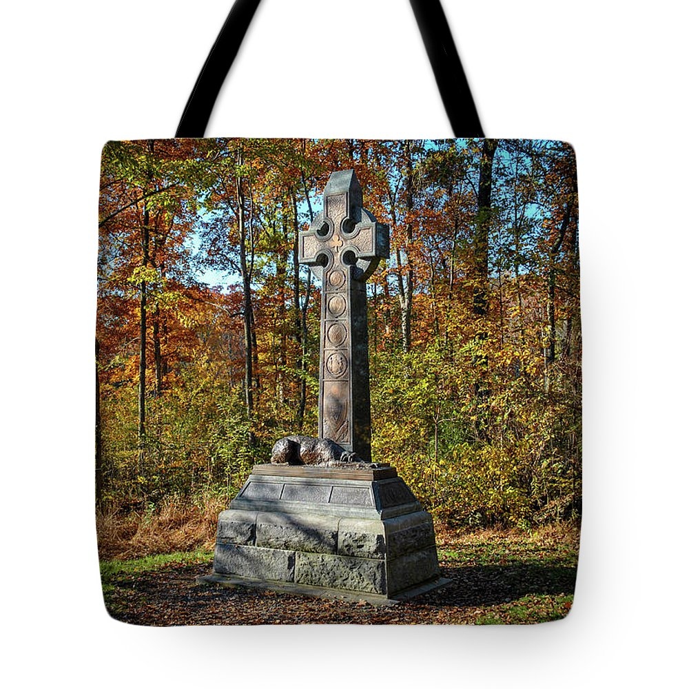 Civil War Tote Bag featuring the photograph The Irish Brigade by Jen Goellnitz