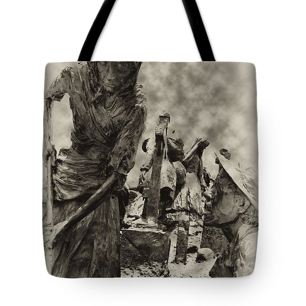Philadelphia Tote Bag featuring the photograph The Irish Famine by Bill Cannon
