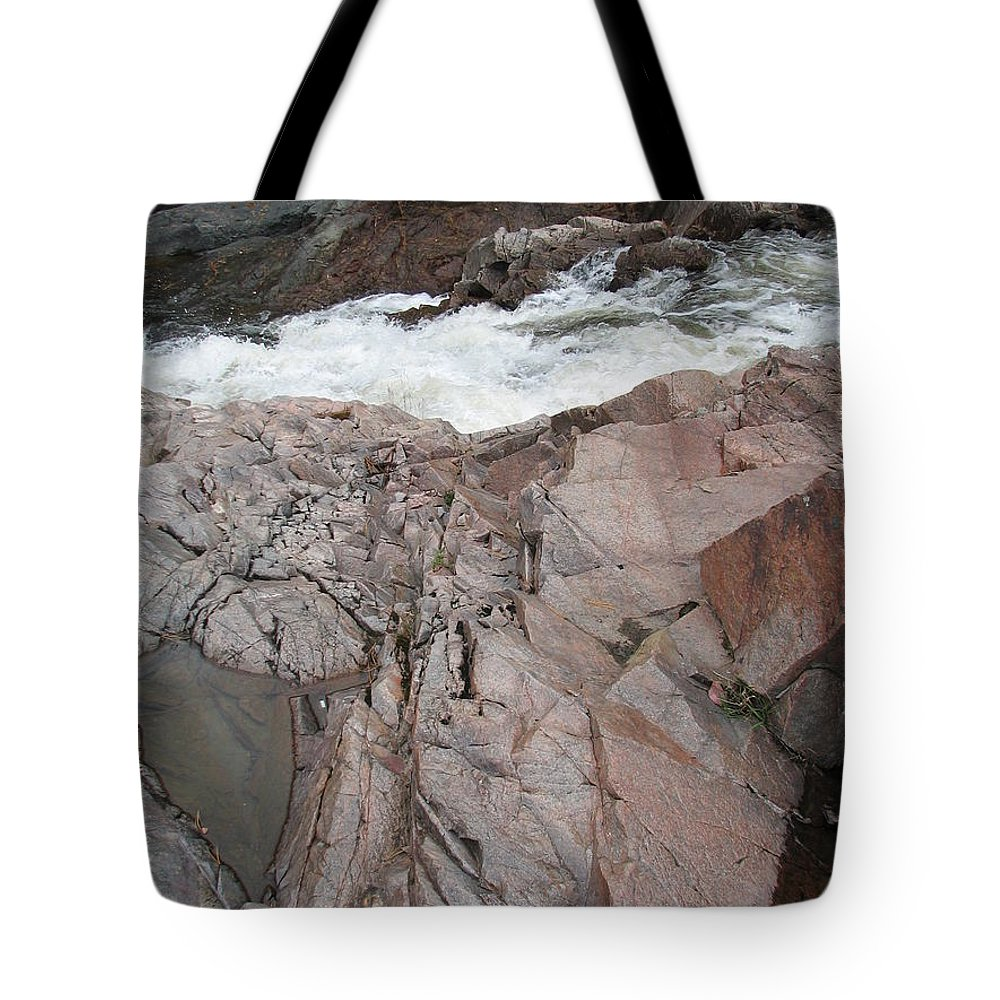 Cliff Tote Bag featuring the photograph The Jagged Edge by Kelly Mezzapelle