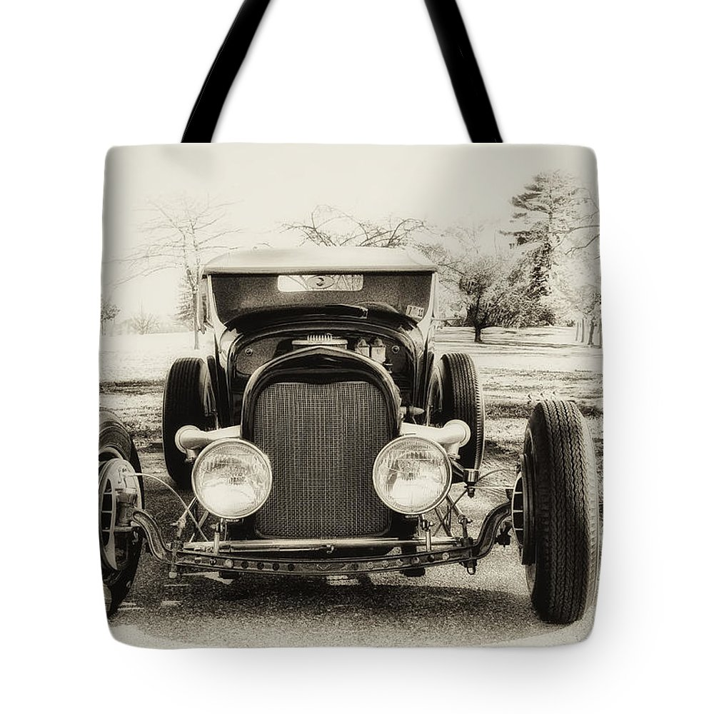 Classic Car Tote Bag featuring the photograph The Jaunty Jalopy by Bill Cannon