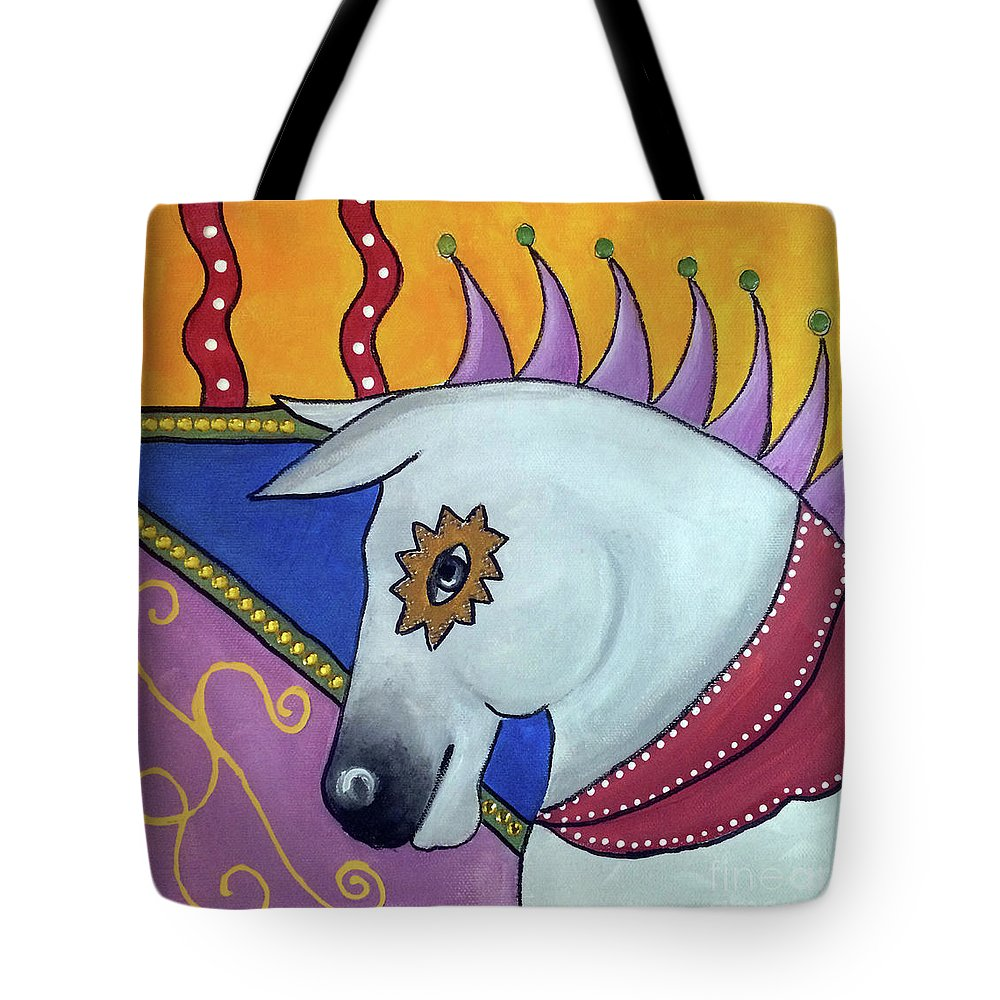 Horse Tote Bag featuring the painting The Jester by Sue LaMarr