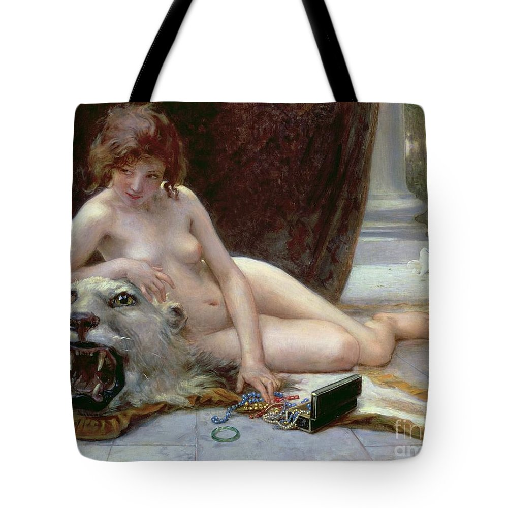 Nude Tote Bag featuring the painting The Jewel Case by Guillaume Seignac