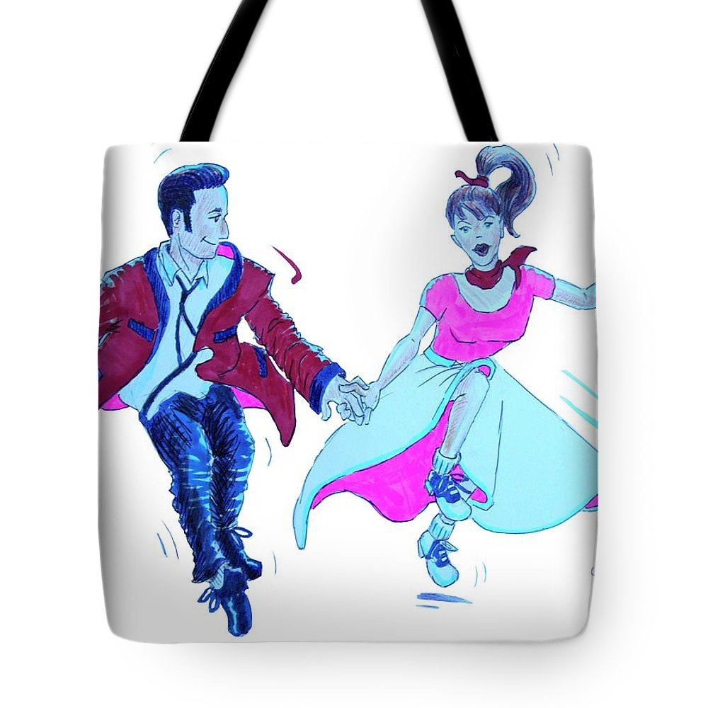 Swing Tote Bag featuring the painting The Jivers by Mike Jory