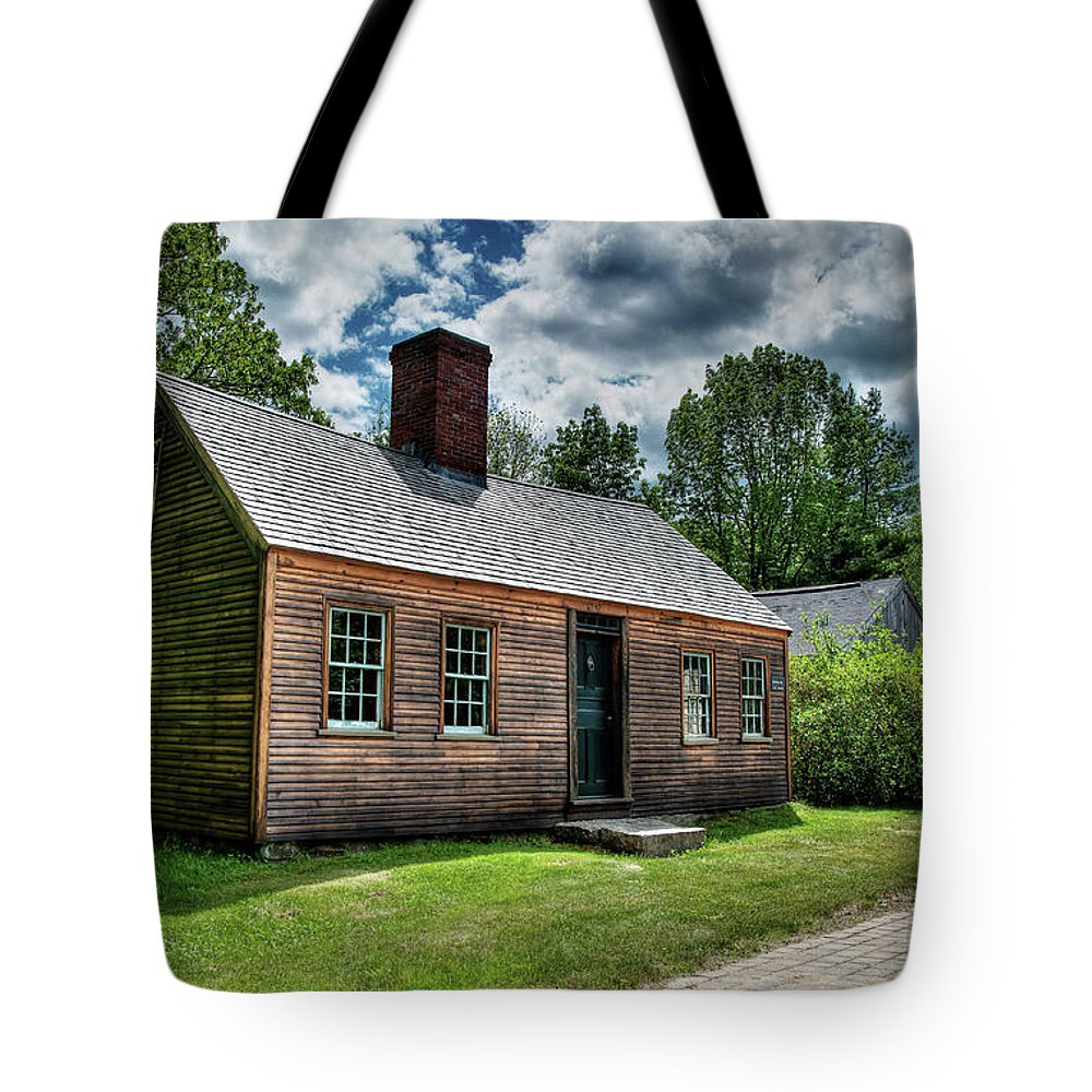 Colonial Tote Bag featuring the photograph The John Wells House In Wells Maine by Wayne Marshall Chase