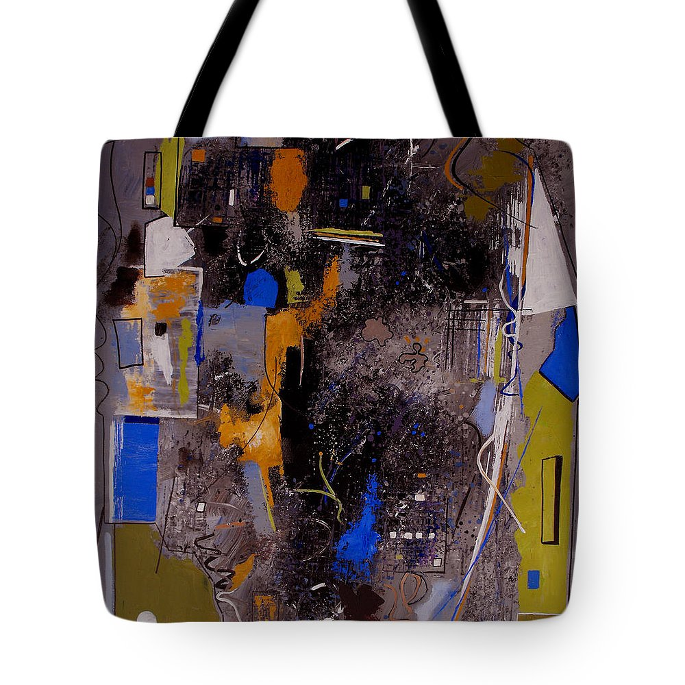 Abstract Tote Bag featuring the painting The Journey by Ruth Palmer