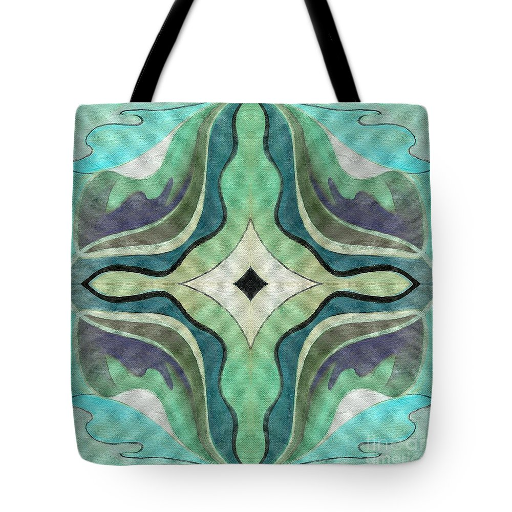 Classic Abstraction Tote Bag featuring the digital art The Joy Of Design X X X I I Arrangement 1 Inverted by Helena Tiainen