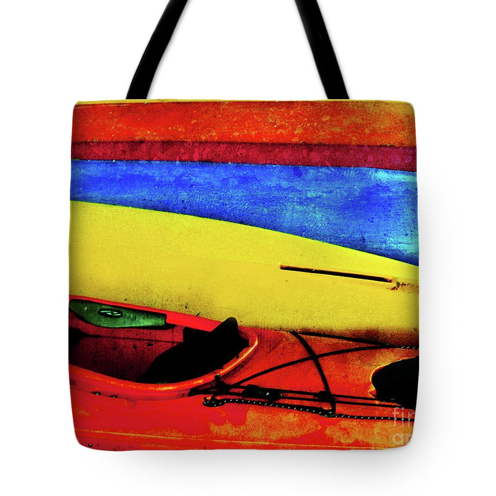 Kayaks Tote Bag featuring the photograph The Kayaks by Tara Turner