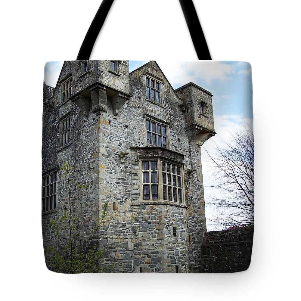 Ireland Tote Bag featuring the photograph The Keep At Donegal Castle Ireland by Teresa Mucha