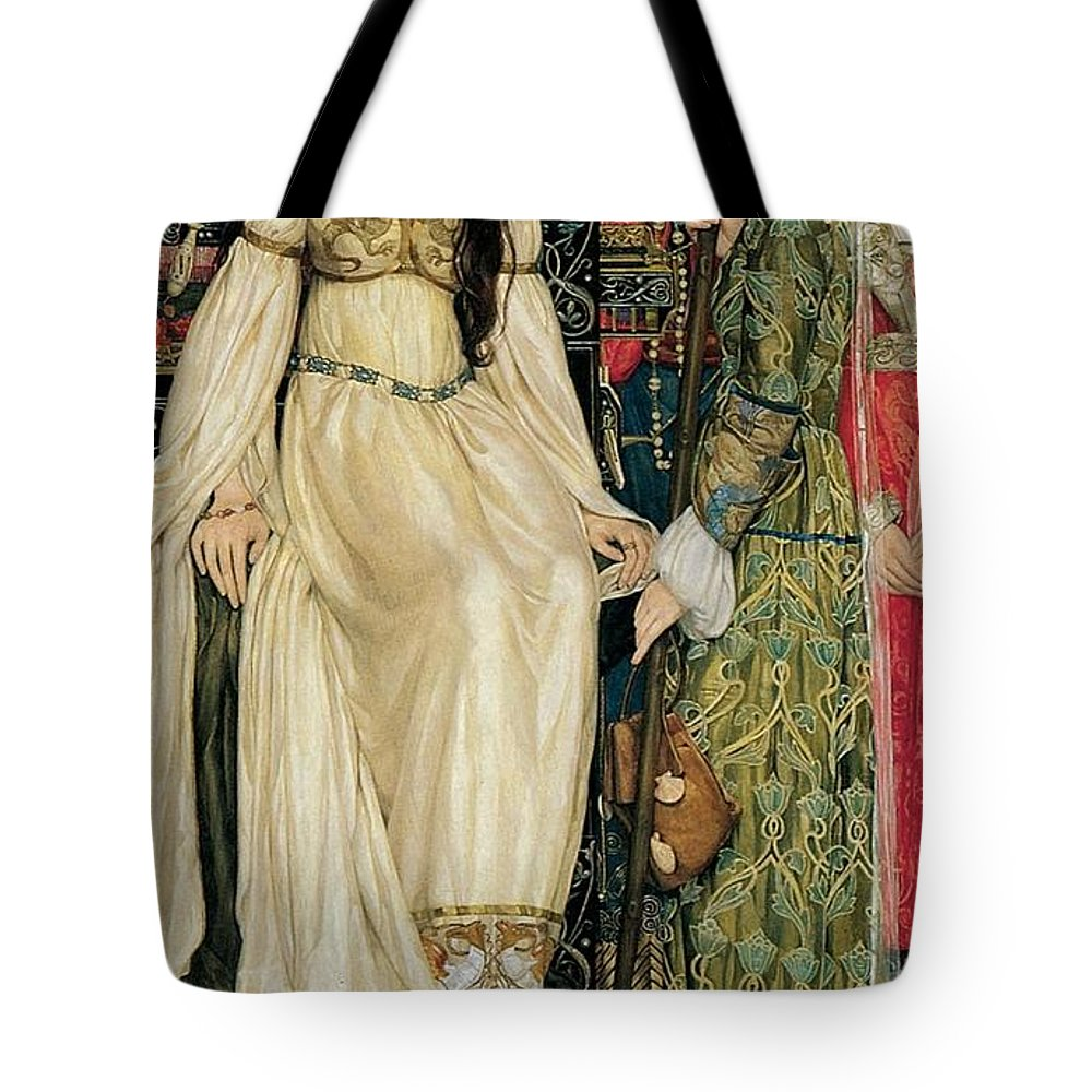 Kate Elizabeth Bunce - The Keepsake 1898-1901 Tote Bag featuring the painting The Keepsake by MotionAge Designs