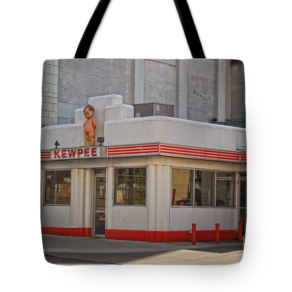 Restaurant Tote Bag featuring the photograph The Kewpee by Pamela Baker