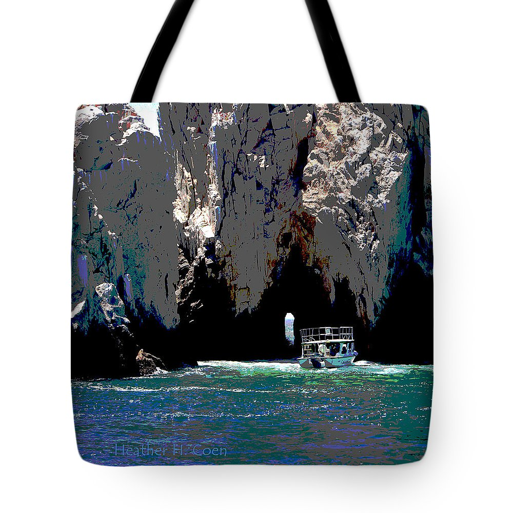 Mexico Tote Bag featuring the photograph The Keyhole Mexico Cabo San Lucas by Heather Coen