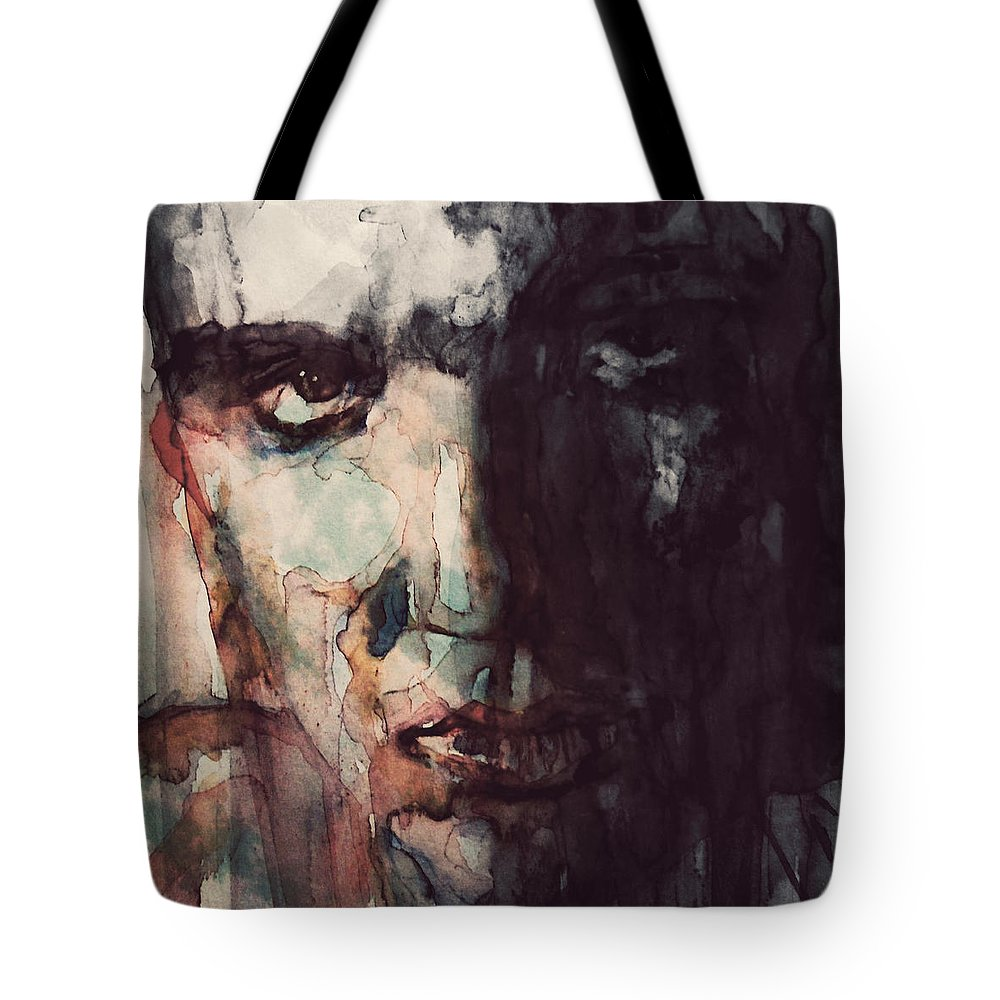 Elvis Tote Bag featuring the painting The King by Paul Lovering