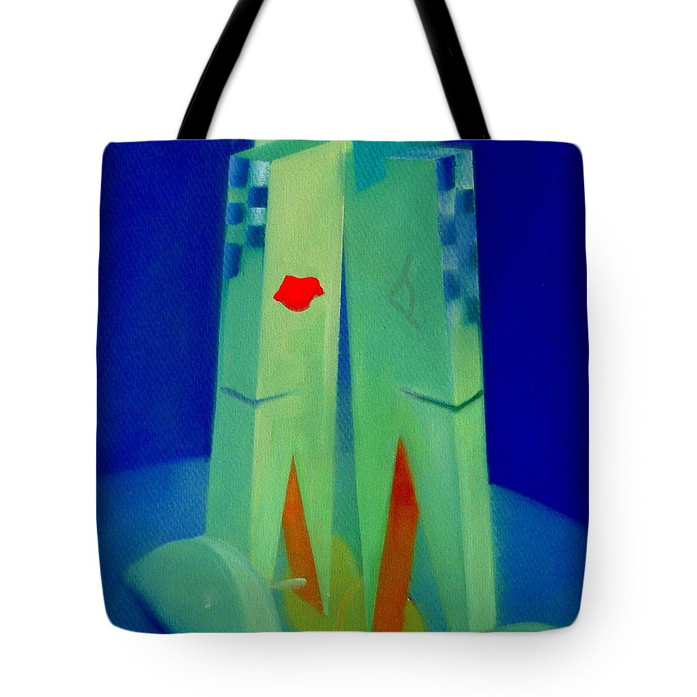 Blue Tote Bag featuring the painting The Kiss by Charles Stuart