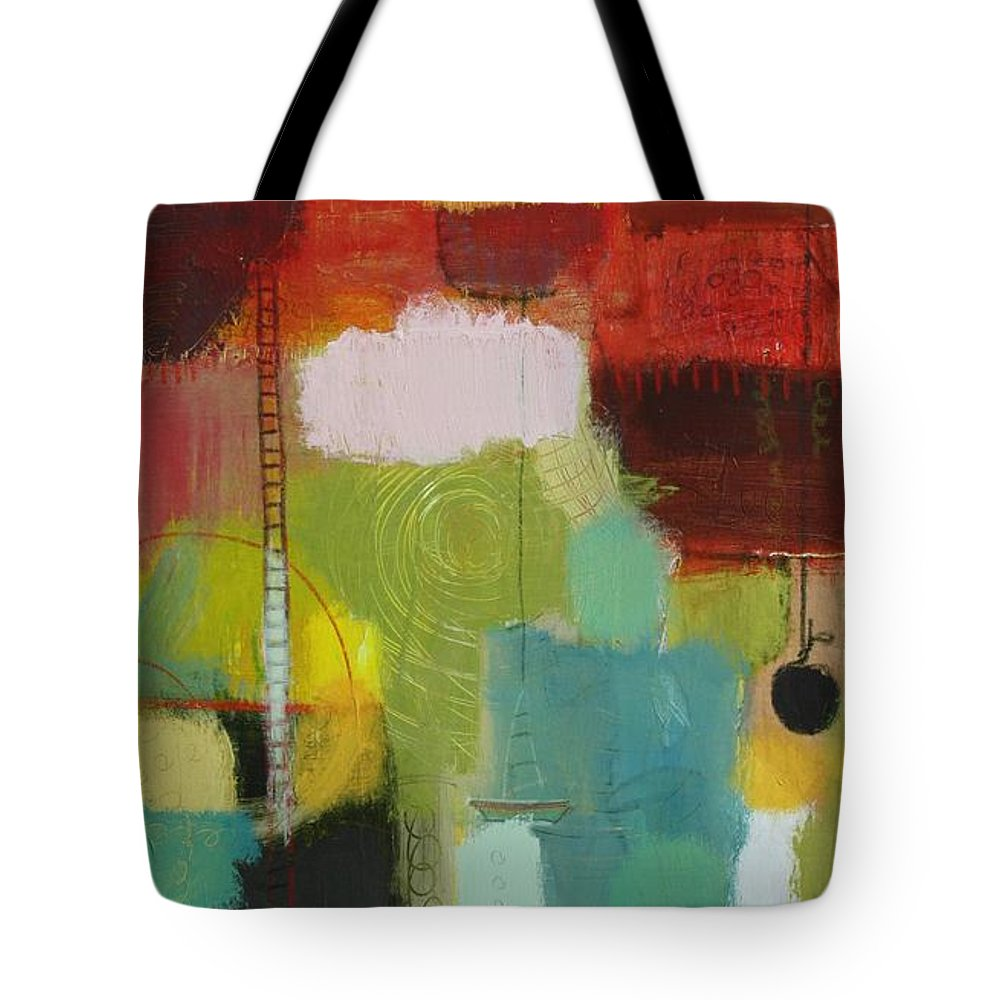 Abstract Tote Bag featuring the painting The Ladder Of Life by Habib Ayat