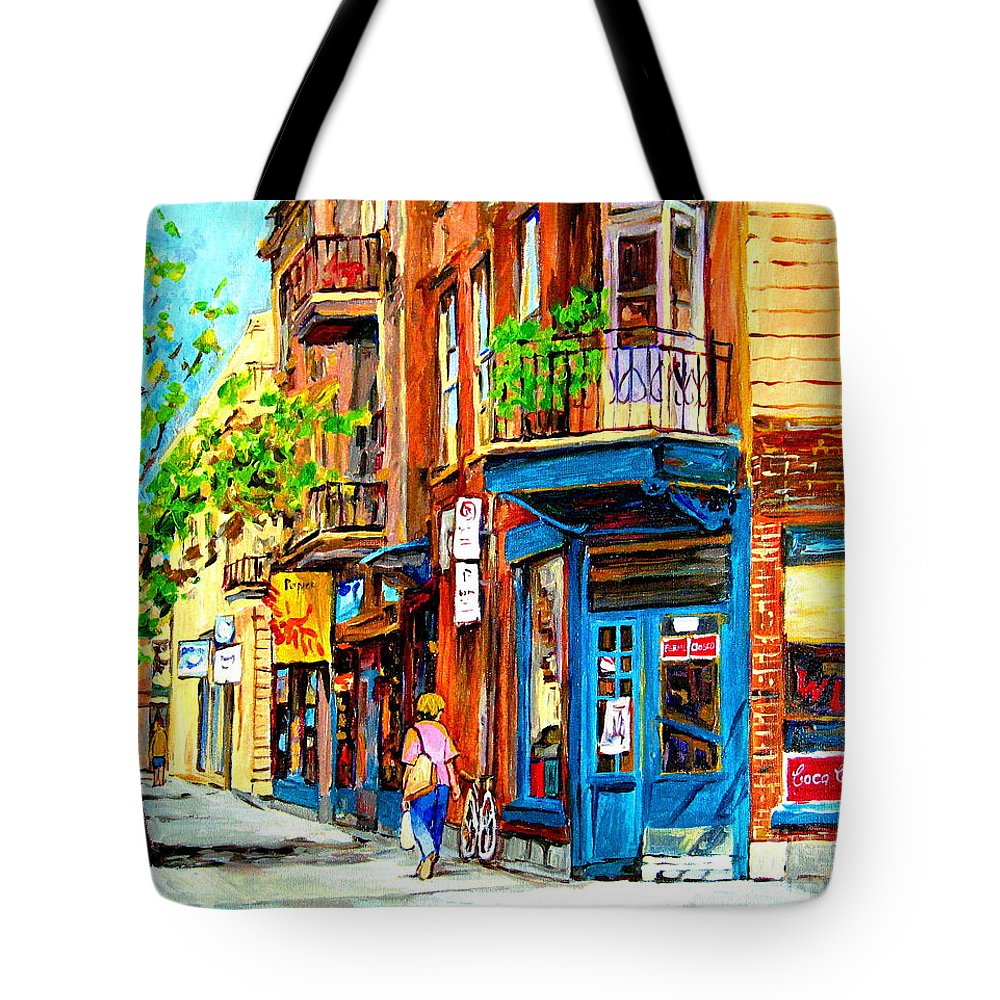Wilenskys Tote Bag featuring the painting The Lady In Pink by Carole Spandau