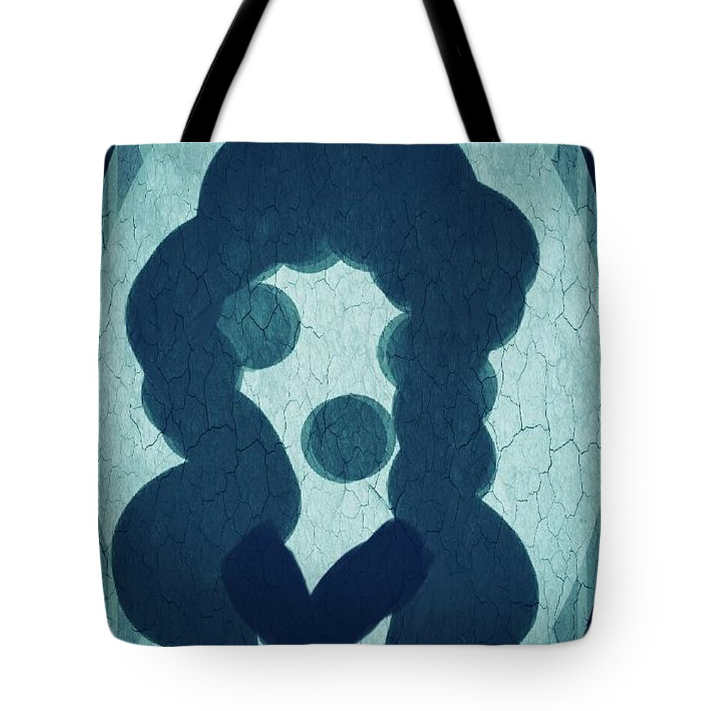 Day Tote Bag featuring the drawing The Lady In The Mirror by Marie Ward-Alonge
