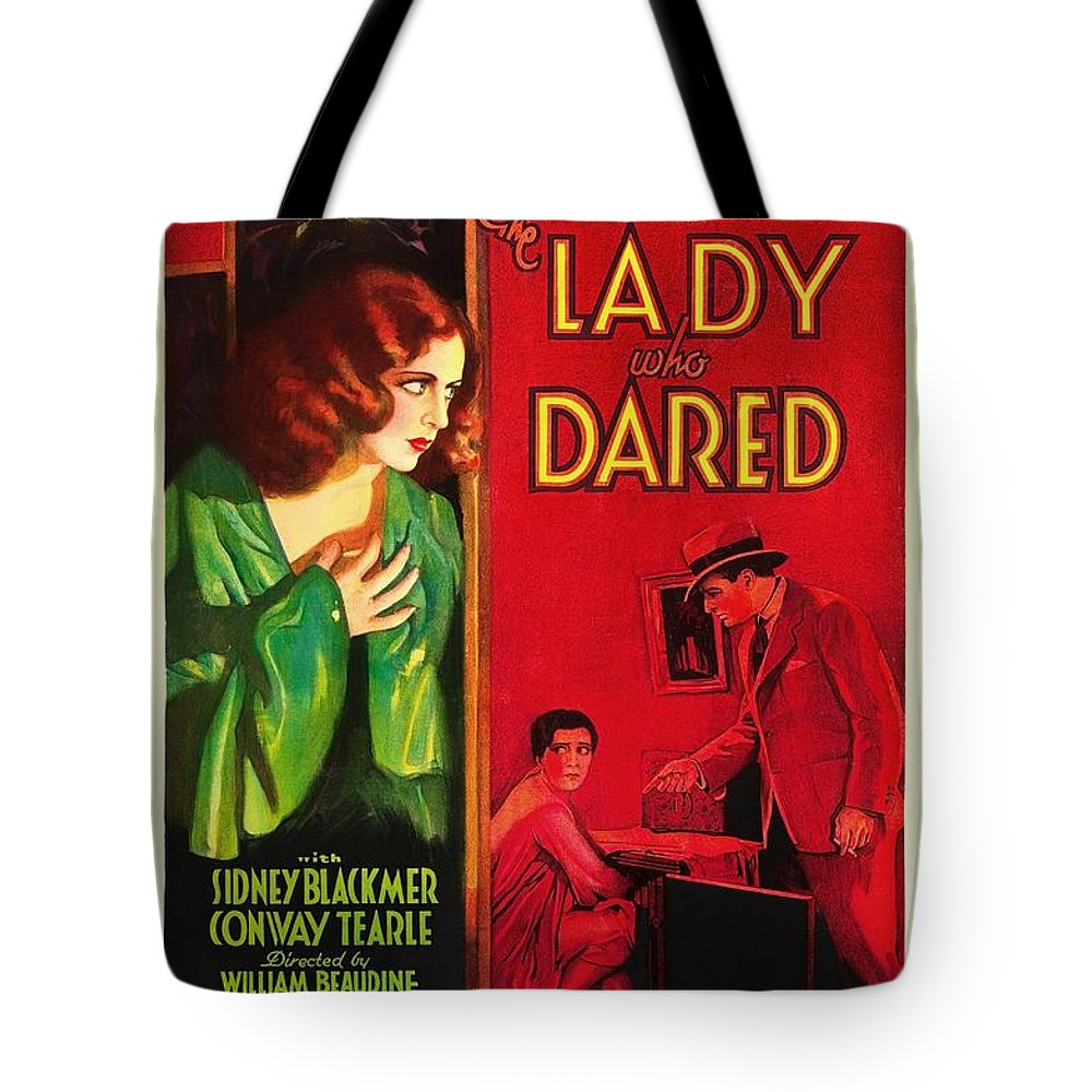 Movie Tote Bag featuring the mixed media The Lady Who Dared 1931 by Mountain Dreams