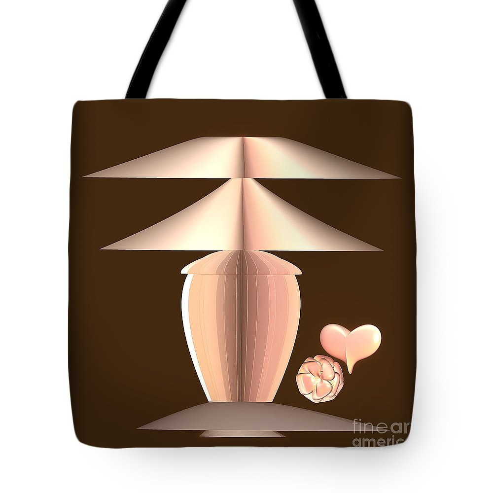 Incendia Tote Bag featuring the mixed media The Lamp by Deborah Benoit