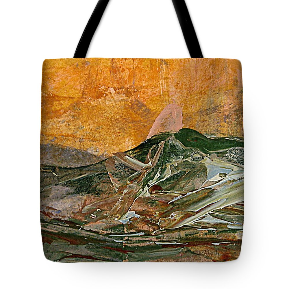 Abstract Acrylic Painting Tote Bag featuring the painting The Landfill by Nancy Kane Chapman