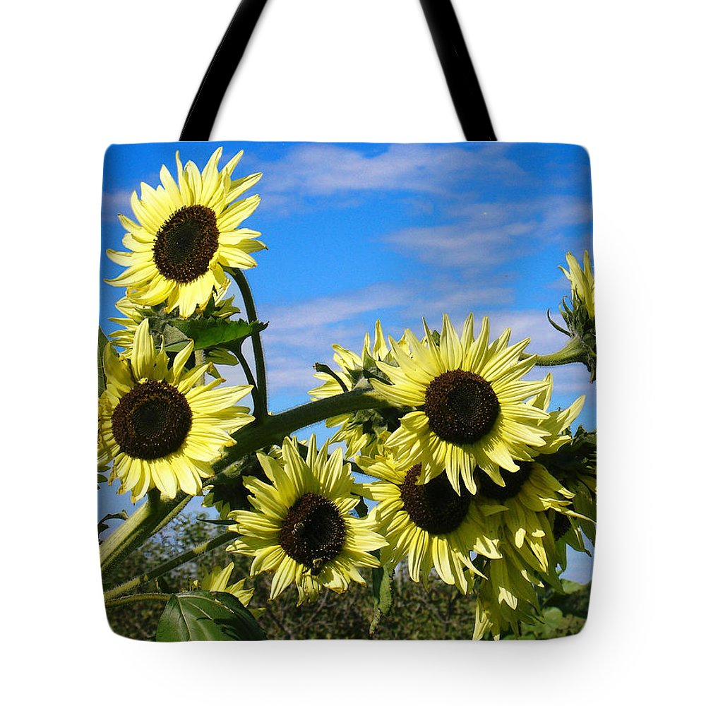 Flowers Tote Bag featuring the photograph The Last of Summer by Steve Karol