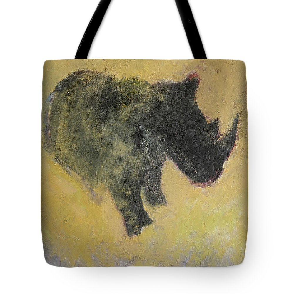 Rhino Tote Bag featuring the painting The Last Rhino by Craig Newland