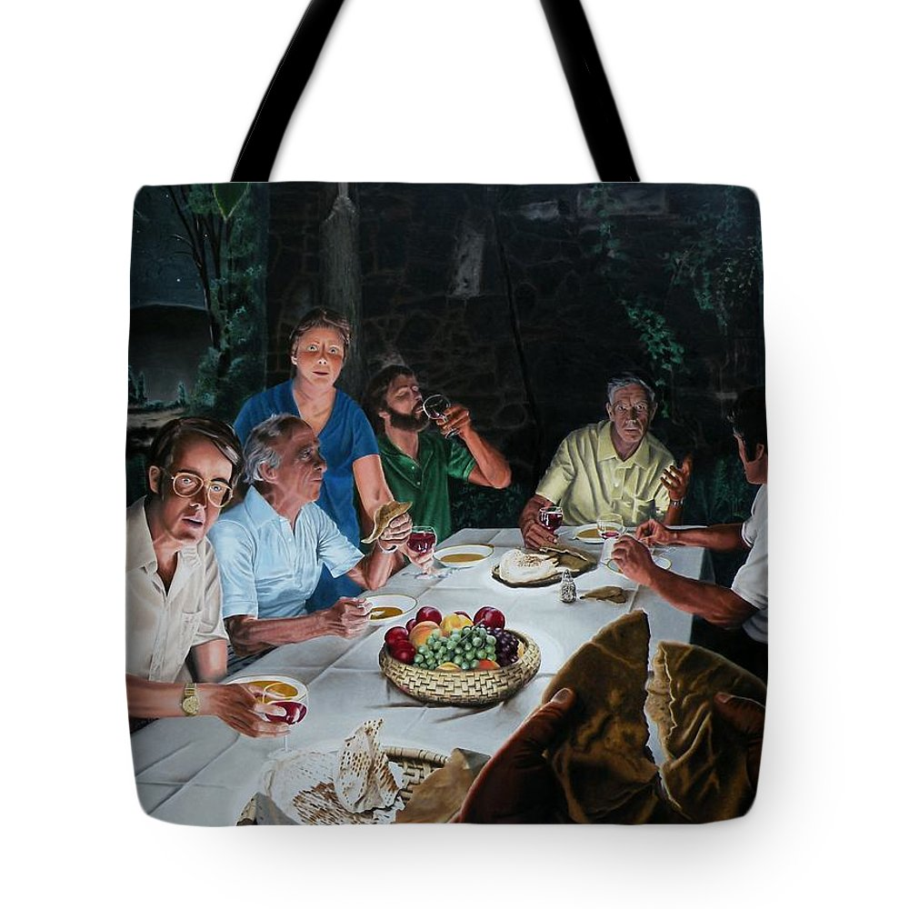 Last Supper Tote Bag featuring the painting The Last Supper by Dave Martsolf