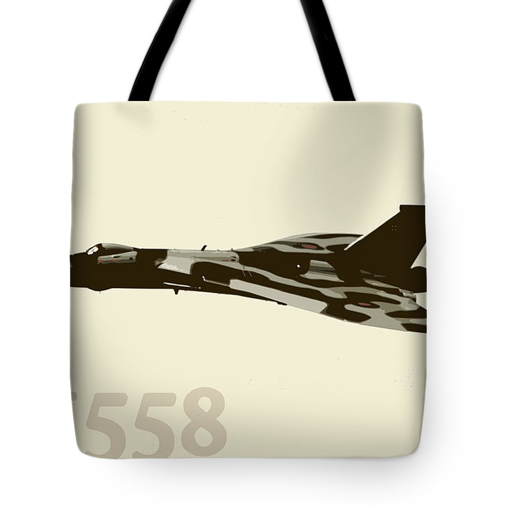 Vulcan Tote Bag featuring the photograph The Last Vulcan Xh558 by Gavin Wilson
