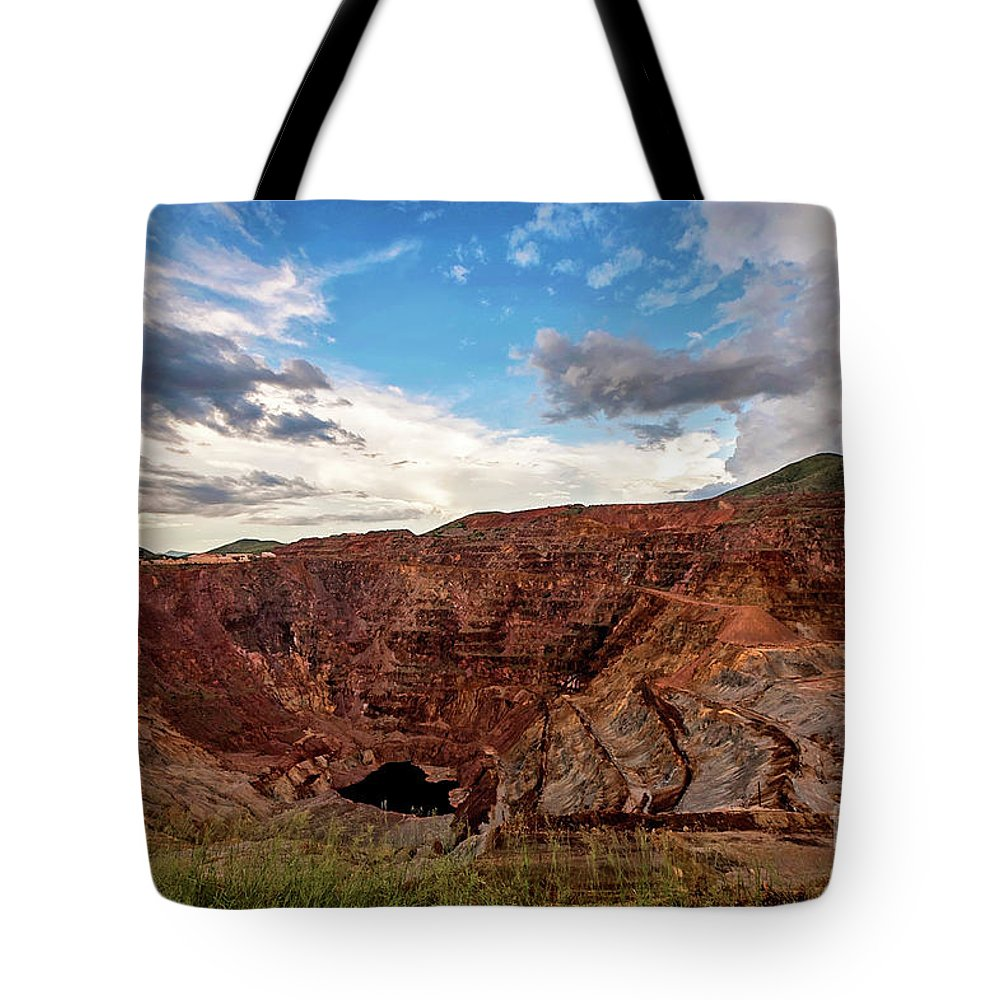 Arizona Tote Bag featuring the photograph The Lavender Pit by Angelina Cornidez