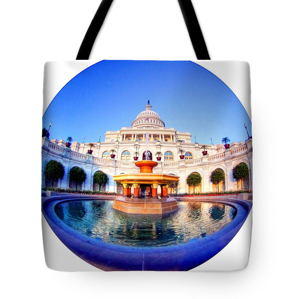 Capitol Tote Bag featuring the photograph The Law Of Gravitation by Mitch Cat