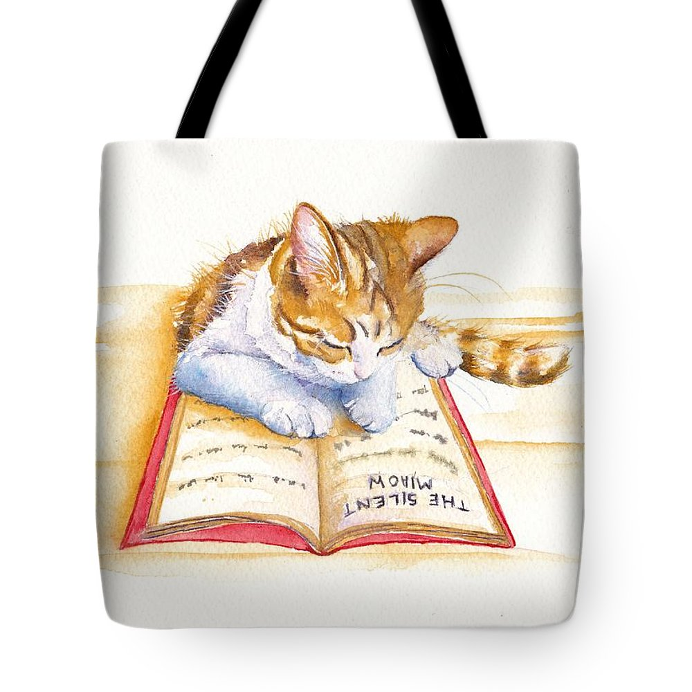 Calico Cat Paintings Tote Bags