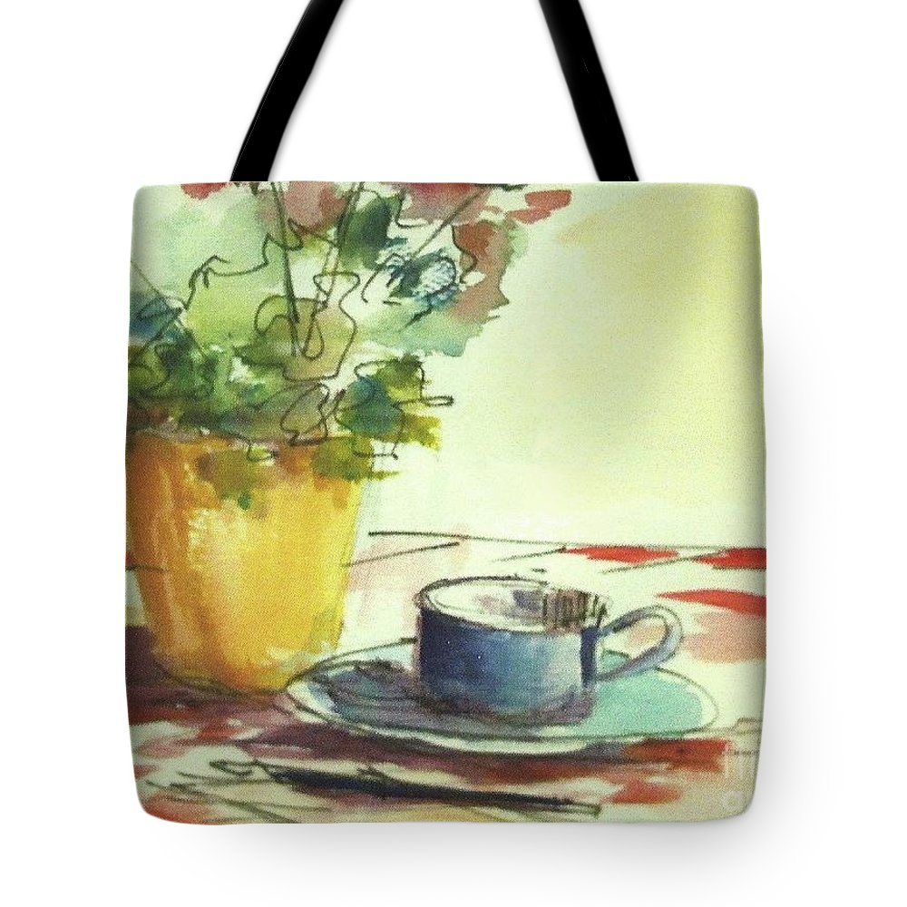 Flower Tote Bag featuring the mixed media The Letter by Iva Fendrick