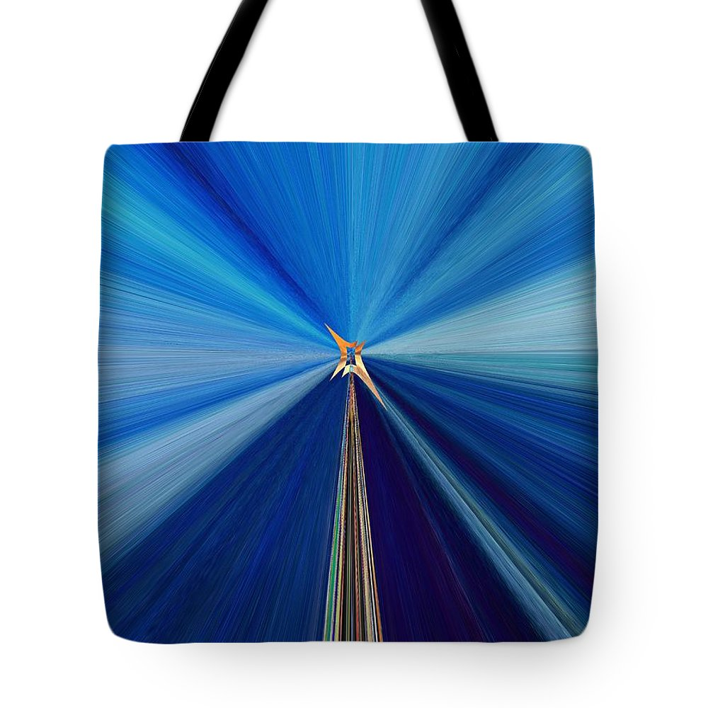 Abstract Tote Bag featuring the digital art The Light Fantastic Speedway by Tim Allen