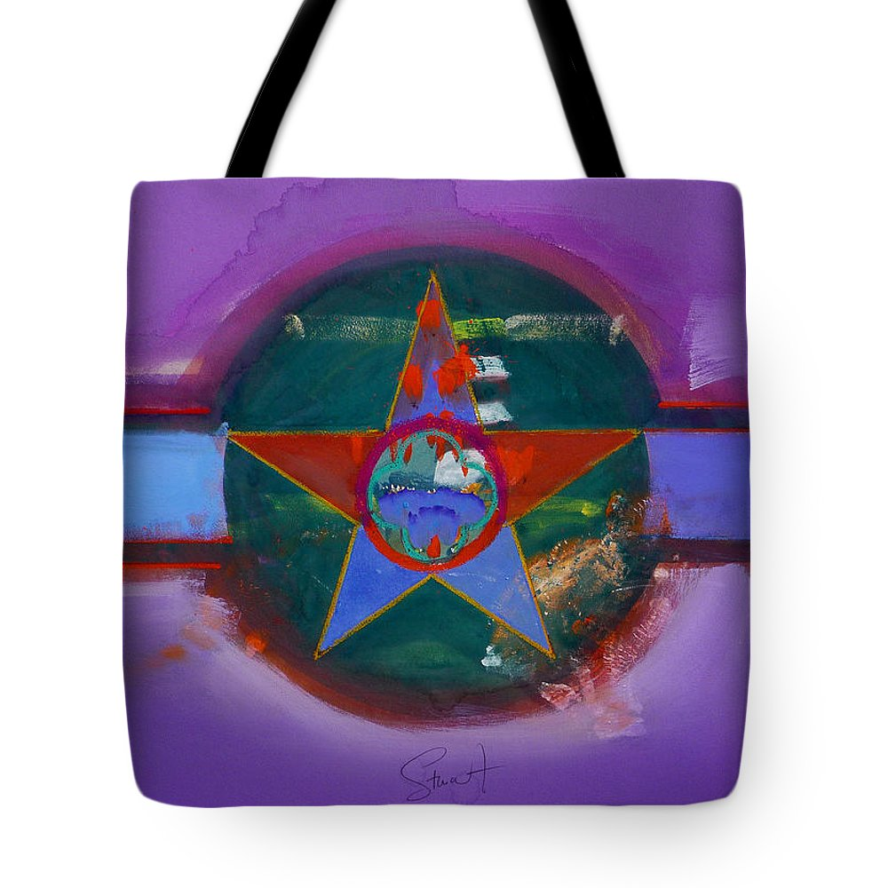 Star Tote Bag featuring the painting The Lighthouse Keeper by Charles Stuart