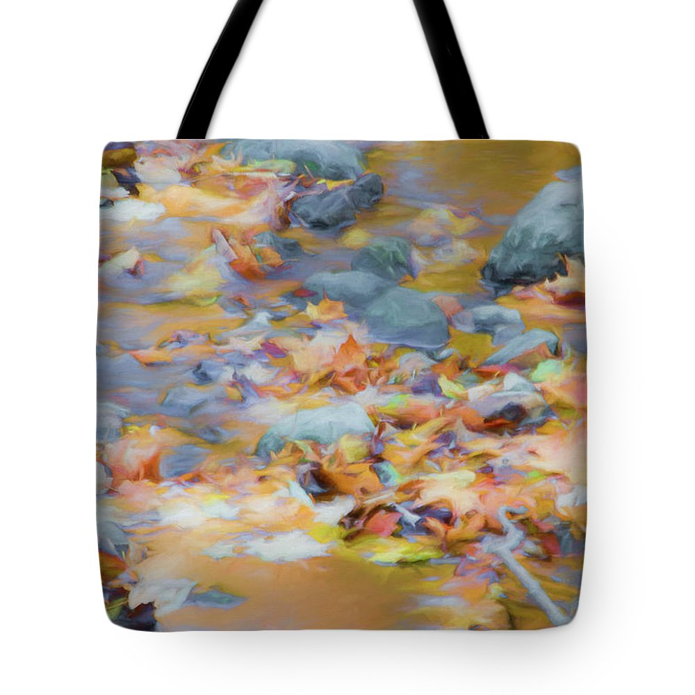 Abstracts Tote Bag featuring the photograph The Lightness of Autumn by Marilyn Cornwell