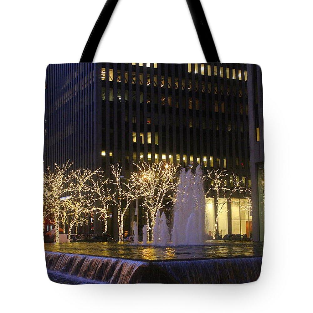 New York Tote Bag featuring the photograph New York City Lights by Dora Sofia Caputo Photographic Design and Fine Art