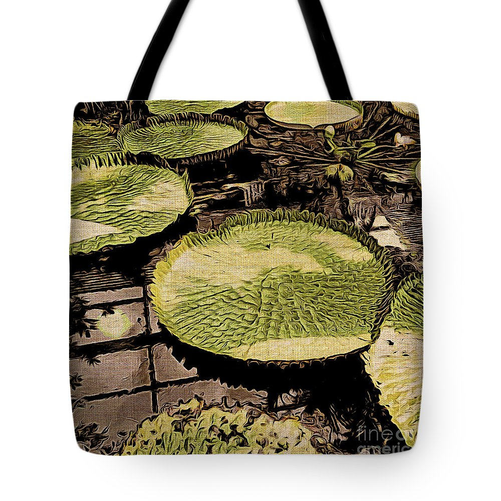 Lilies Tote Bag featuring the photograph The Lily Pads by Onedayoneimage Photography