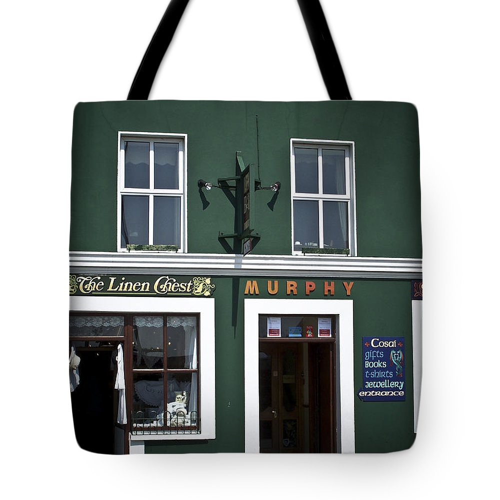 Irish Tote Bag featuring the photograph The Linen Chest Dingle Ireland by Teresa Mucha
