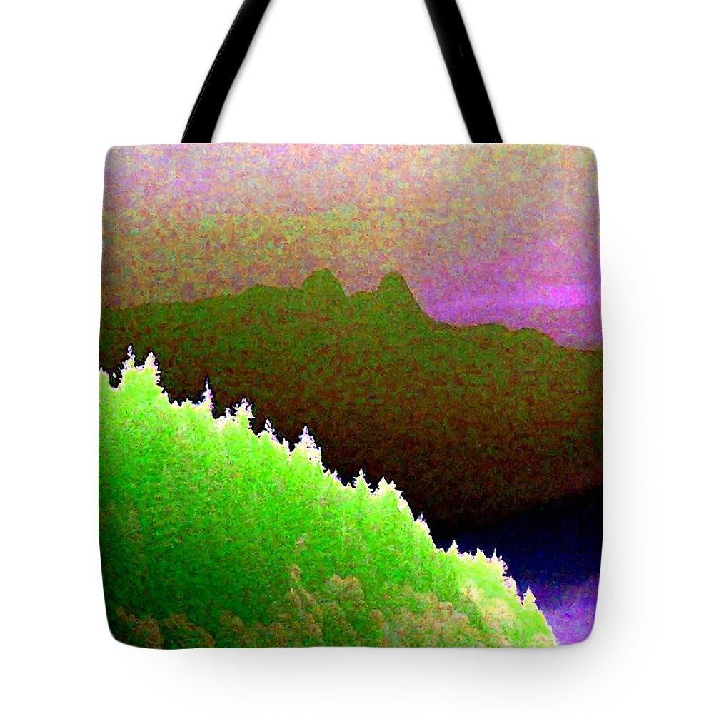 The Lions Tote Bag featuring the digital art The Lions by Will Borden