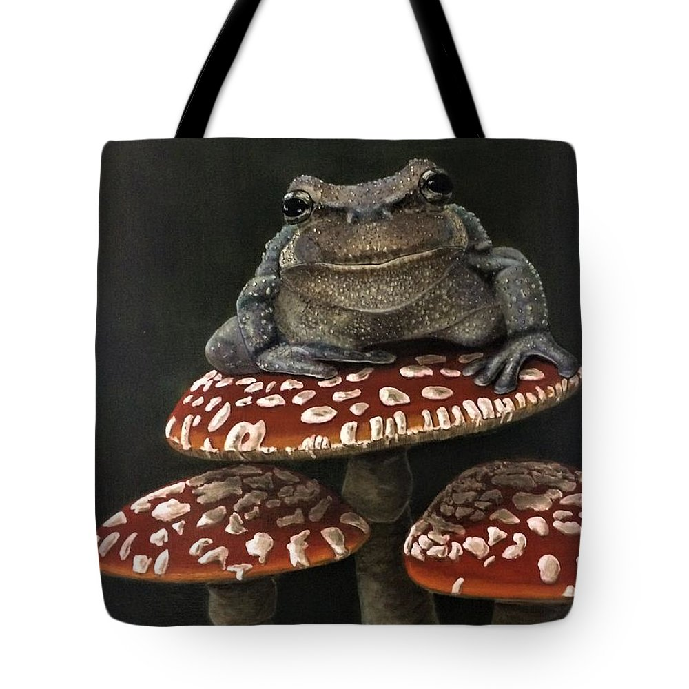Amphibians Tote Bag featuring the painting The Little Prince by Gary Pritts