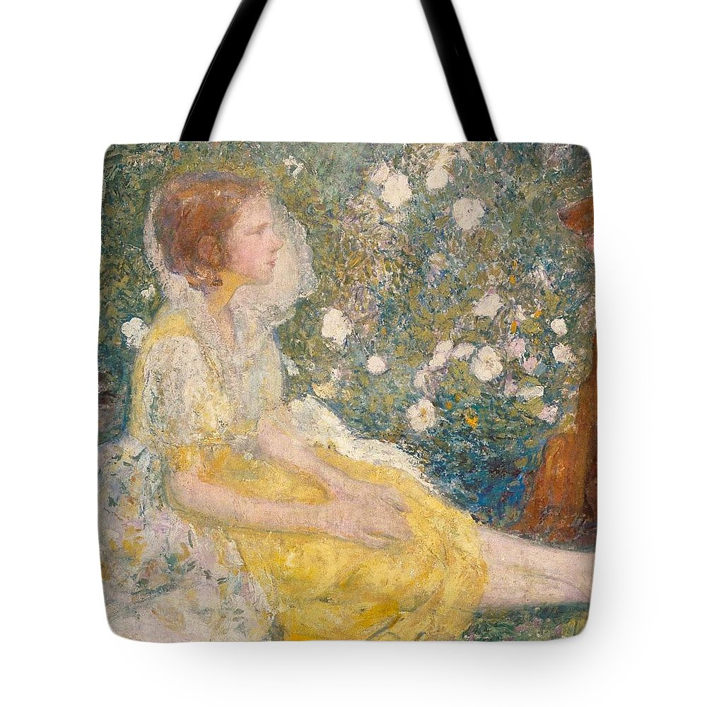 Karl Anderson - The Little Princess (1915) Tote Bag featuring the painting The Little Princess by MotionAge Designs