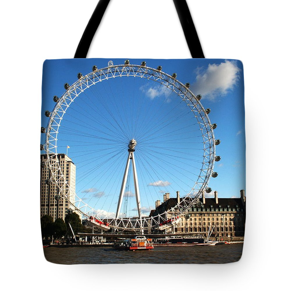 London Eye Tote Bag featuring the photograph The London Eye 2 by Chris Day