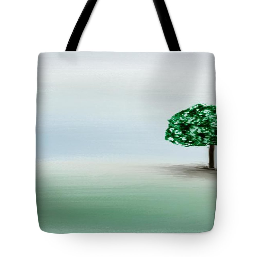 Custom Tote Bag featuring the painting The Lone Tree by Gina Lee Manley