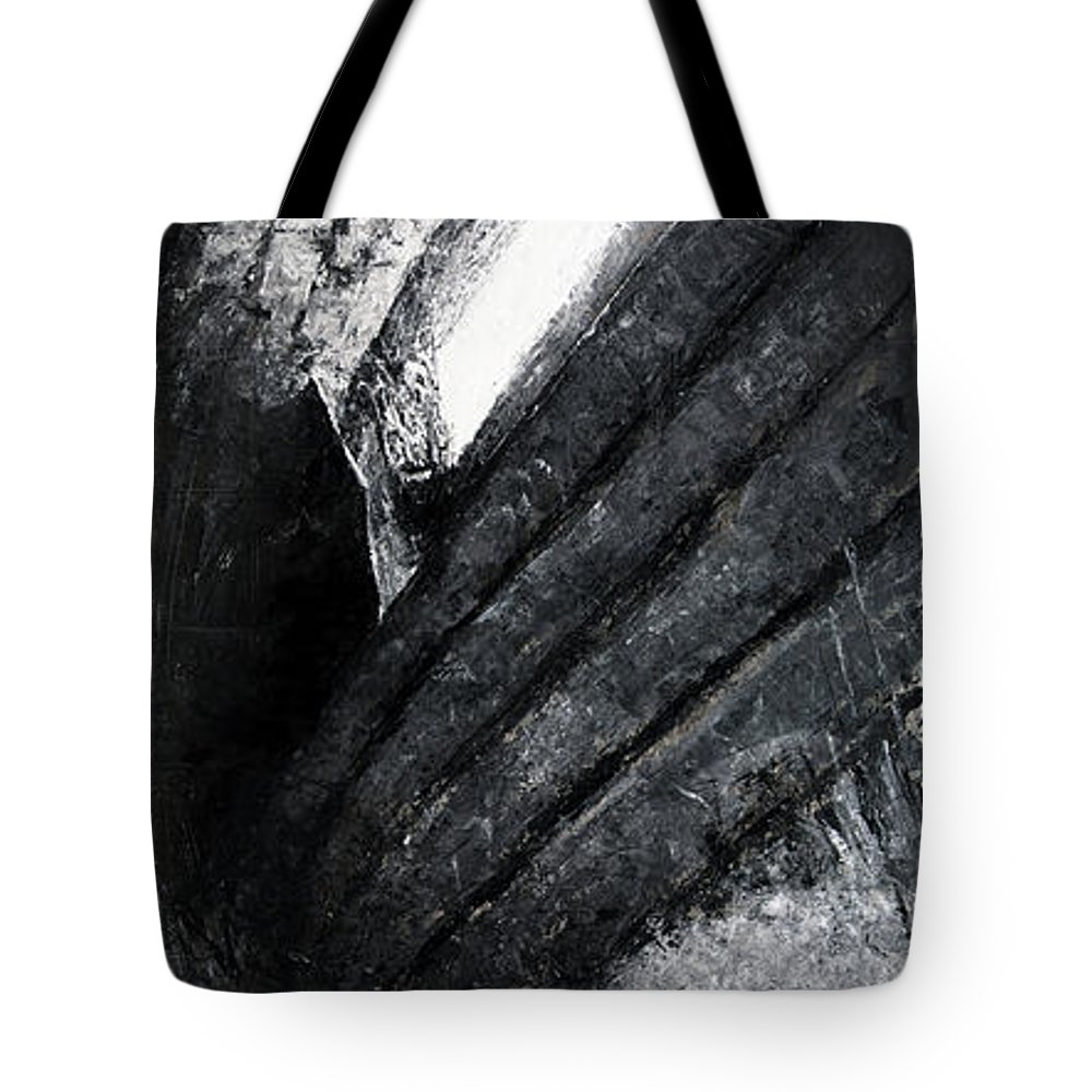 Painting Tote Bag featuring the painting The Long Bright Dark 2 by Christian Klute
