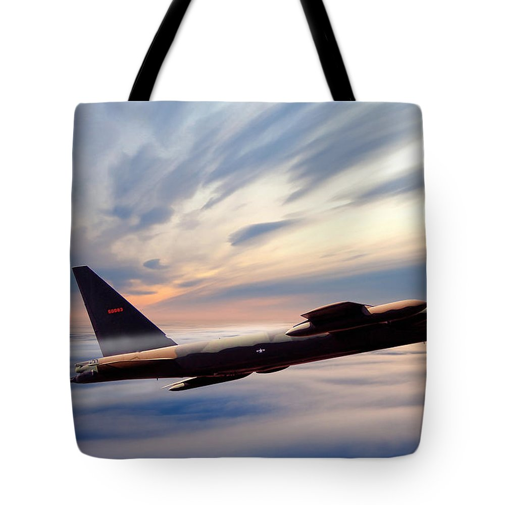 Aviation Tote Bag featuring the digital art The Long Goodbye by Peter Chilelli