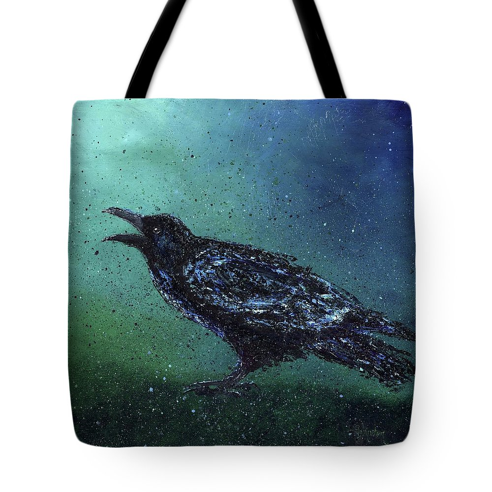 Long Tote Bag featuring the painting The Long Night Ends by Cindy Johnston